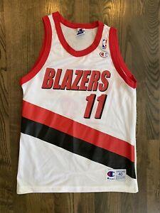 Rare ARVYDAS SABONIS #11 Portland Trail Blazers Champion Jersey 40 Medium M
