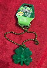 "St Patricks Day LED 3 Modes Light Up Necklace  Shamrock 20"" Beads Costume Clover"