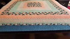 Vintage Handmade Granny Crochet Blanket Throw Retro Coverlet Bedspread 56 x 64