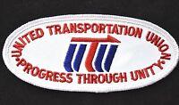 Vintage Railroad Sew On Patch United Transportation Union Ohio Railroadiana