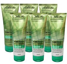 6 X L'OREAL HAIR EXPERTISE PURE FORCE 100% SULPHATE FREE SHAMPOO & CONDITIONER