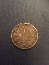 1895 1 Shilling Silver 925, Paul Kruger ZAR coin from South Africa