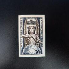 LE SYSTÈME MÉTRIQUE N°998 TIMBRE NON DENTELÉ IMPERF 1954 NEUF ** LUXE MNH