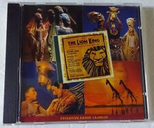 Walt Disney The Lion King Exclusive Radio Sampler CD Original Broadway Cast
