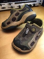Stride Rite Versadille Crocodile Leather Zip Play Water Friendly Vent Shoes 6.5m