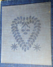 Etched Fancy Heart Pattern Lower Glass, Steeple or Beehive Clock Size