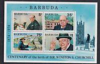 BARBUDA 15 OCTOBER 1974 WINSTON CHURCHILL CENTENARY MINIATURE SHEET MNH