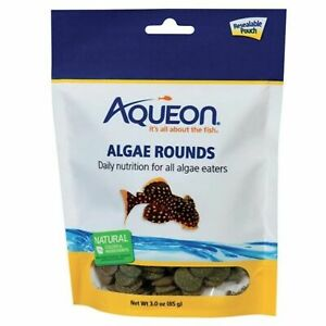 3oz Aqueon Algae Wafer Rounds, FREE 12-Type Pellet Mix Included