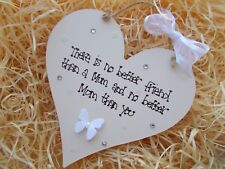 Shabby Chic Style Mothers Day Heart Plaque Keepsake Gift
