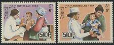LAOS N°604/605** Médecine, campagne contre la Polio, 1984 medicine Sc#599-600 NH