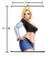 """Hot Anime Dragon Ball Android 18 Home Decor Poster Wall Scroll 8""""x12"""" FL902"""