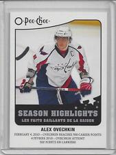10-11 OPC Alex Ovechkin Season Highlights Insert Card (SH-12)