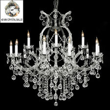 New! Crystal Chandelier 37X38 W/Crystal Balls! Free S/H