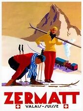 "Switzerland Travel Art Poster Swiss Print 11x14"" Rare Hot New XR132"