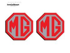 New MG TF LE500 Badge Inserts Front Grill & Rear Boot Logo Set 70mm Red Silver