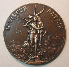 Honneur Patrie Shooting Competition/Art Nouveau/Bronze Medal byHenri Dubo. M.22b
