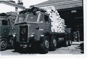 B/W PHOTO: BRITISH ROAD SERVICES ATKINSON 8 WHEEL RIGID FLAT - GCY 163 - 20G228