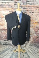 Brioni Palatino ITALY 44R Grey Plaid Super 180s Wool 3 Button 2 Piece Suit 34X30