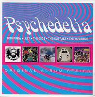 Psychedelia / Tomorrow, July, The Gods, Idle Race & Yardbirds (5 CDs, NEU! OVP)