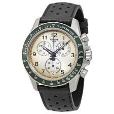 New Tissot V8 GTS Chronograph Black Leather Strap Mens Watch T1064171603200