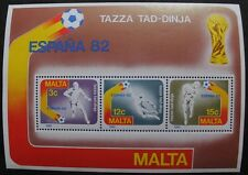 World cup football championship in Spain stamp sheet, 1982, Malta, SG ref: MS697