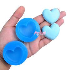 2GFiEB598 38.3mm Heart Macaron Silicone Mold Suagrcarft Resin Fimo Clay Bakeware