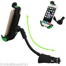 360° Rotable Dual USB Charger Mobile Smartphone GPS Car Mount Holder Adjustable
