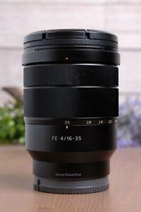 Sony Vario-Tessar T* FE 16-35mm f/4 ZA OSS Lens SEL1635Z w/Caps & UV Filter