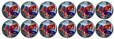 Spiderman -  Edible Image ICING cupcake Toppers x 12