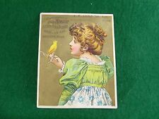 The Smith American Piano & Organ Co AC Andrew Willimantic, Girl Yellow Parakeet
