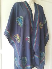 SOFT SURROUNDINGS Tropical Tunic Top/Kimono Navy One Size- Sale !