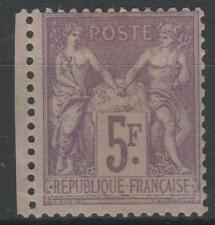 "FRANCE STAMP TIMBRE 95 "" SAGE 5F VIOLET SUR LILAS 1877 "" NEUF x TB A VOIR   N478"