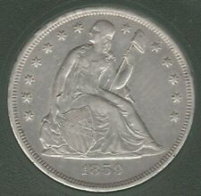1859 O Liberty Seated Extra Fine XF Silver US Dollar $1