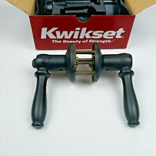 New Kwikset Ashfield Privacy 730ADL 514 6AL RCS RLVR black iron lever handle nib