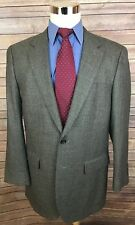 Chaps 100% Lambswool Gray Nailhead Slim Fit 2 Button Blazer Sport Coat 42L