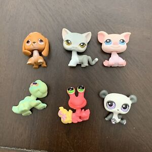 Littlest Pet Shop Lot Of 6 Game Pieces Tokens 2007 Monopoly Replacement Parts