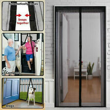 Magic Magnetic Door Mesh Curtain Mosquito Fly Bug Insect Net Screen With Lace