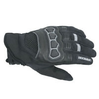 2XL Mens DriRider Street Motorbike Gloves Summer Sports Touring Black Grey