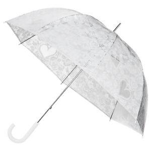 Hochzeitsschirm weiß Falconetti® Stockschirm Regenschirm