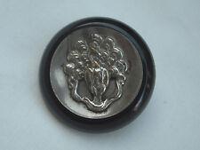 Vintage Celluloid Button with Metal Peacock Design Centre 37mm diam Item 291