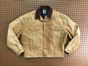 MENS MEDIUM - Vtg Carhartt Duck Blanket Lined Trucker Jacket