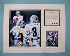 Dallas Cowboys Troy Aikman/Emmitt Smith 1996 Football 11x14 MATTED Lithograph