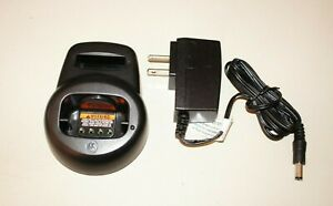 Motorola OEM CLS Radio Charger Base For CLS1110, CLS1410, VL50 HCTN4001A  w/ P.S
