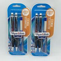 Paper Mate Mechanical Pencils 0.7mm 2 Pencils 5 Erasers Lead Lot of 2 Packs