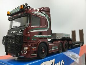 Tekno Murphy Plant Scania R & Low Loader. Irish Coll. Box & Cert Rare 1/50