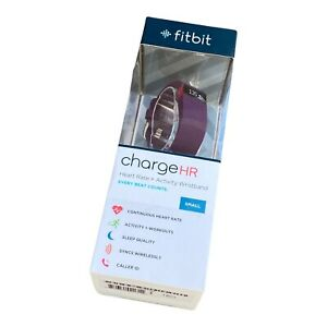 NEW Fitbit Charge HR Wireless Activity Wristband, Plum, Small