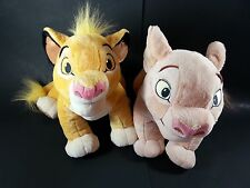 Disney Store Authentic Lion King Nala Simba Plush Stuffed Animal Lot Of 2