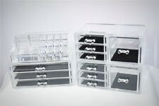 Clear View Acrylic Jewelry Makeup Cosmetic Storage Home Tidy Organizer Drawers