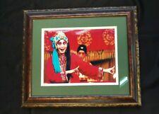 """Framed Photograph Oriental girl dancing Traditional framed w/ Matt 16""""x14"""""""