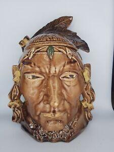 ANTIQUE MCCOY INDIAN HEAD COOKIE JAR